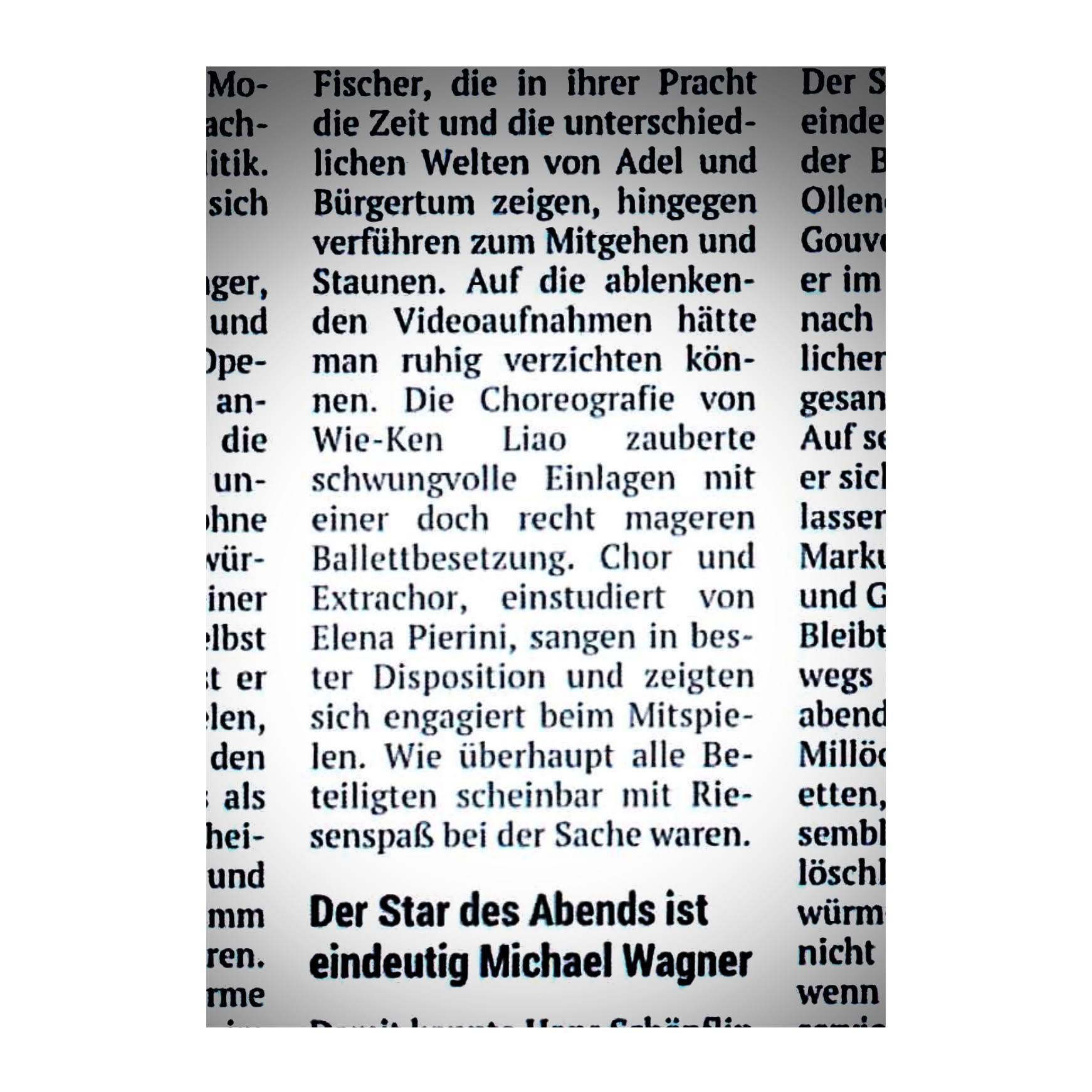 """Rezension """"Der Bettelstudent"""" (Kronenzeitung)"""