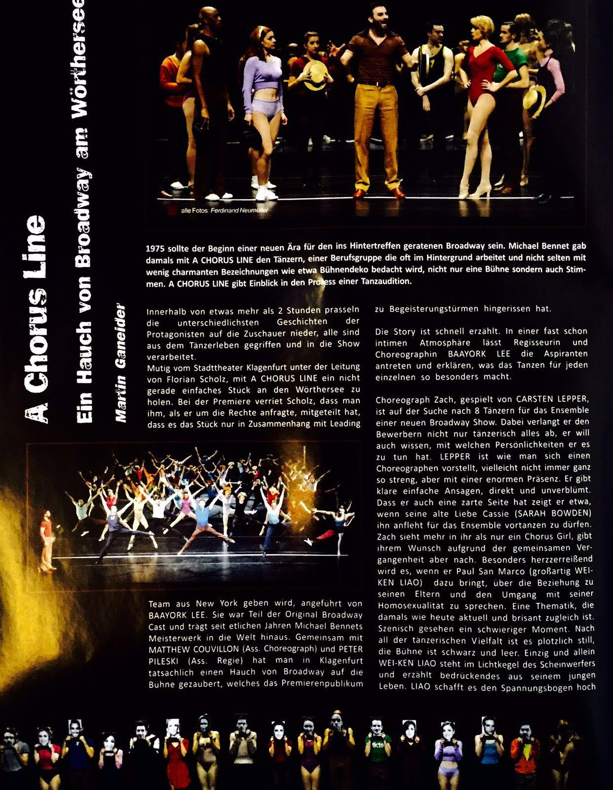 Rezension A Chorus Line Teil 1